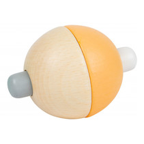 grijpballen junior 5 cm hout naturel/oranje