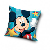kussen Mickey 40 x 40 cm polyester turquoise