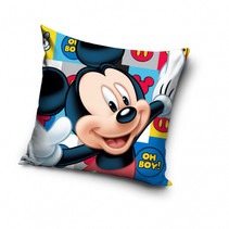 kussen Mickey 40 x 40 cm polyester multicolor