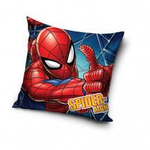 kussen Spider-Man web 40 x 40 cm polyester blauw/rood