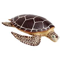 speeldier zeeschildpad 21 cm bruin/geel