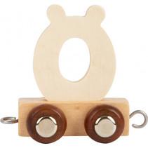 lettertrein Ö junior 5 x 3,5 cm hout beige/bruin