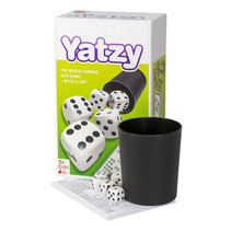 dobbelspel yatzy met beker karton 8-delig