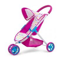 poppenwagen Susie Candy meisjes 63 cm roze/blauw