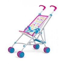 poppenwagen Julia Candy 54 cm roze/blauw