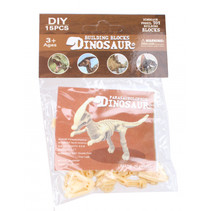 3D-puzzel Parasaurolophus 9 x 7 cm beige