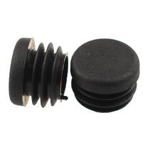buisstop 22 mm zwart 4 stuks
