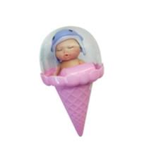 babypop in ijshoorntje meisjes 12,5 cm roze