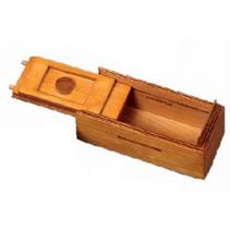 schuifpuzzel geheimen doos junior 15 cm hout oranje