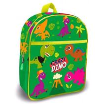 schooltas Crazy Dino 30 cm polyester groen