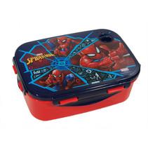 lunchbox Spiderman jongens 2-delig rood/donkerblauw