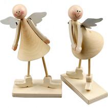 Kegelvormige engelen 15 cm bruin