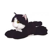Knuffel Mini Flopsie maynard zwart-wit kat 20,5 cm