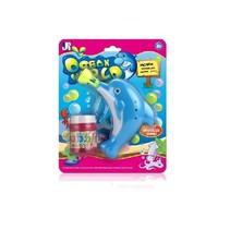 dolfijn bellenblazer blauw 10 cm