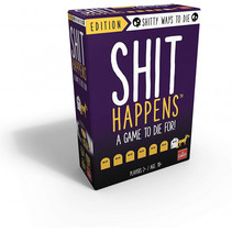 gezelschapsspel Shit Happens (FR) 15 cm karton paars