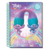 notitieboek & stickervel Trolls: World Tour A5 paars