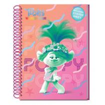 notitieboek & stickervel Trolls: World Tour A5 roze