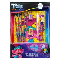 kleurset Trolls: World Tour junior papier 22-delig