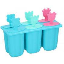 ijslollymaker polypropyleen 80 ml blauw 6 stuks