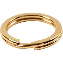 splitringen 15 mm 15 stuks goud
