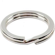 splitringen 15 mm 15 stuks zilver