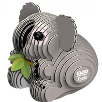 3D-puzzel koala 6 x 5 cm karton grijs 32-delig