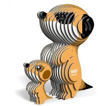3D-puzzel meerkat 7 x 7,5 cm karton oranje 45-delig