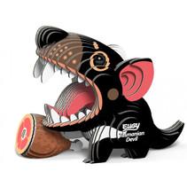 3D-puzzel Tasmaanse duivel 9 x 6,5 cm karton zwart 35-delig