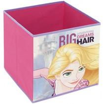 opbergbox Rapunzel junior 31 cm polyester roze
