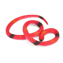 speeldier Animal World slang 150-200 cm rubber rood