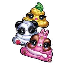 gum poep junior rubber geel/wit/roze