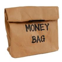 spaarzak Money Bag 12 x 17 cm wasbaar papier bruin