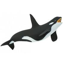 speeldier orka junior 17 x 7 cm zwart/wit