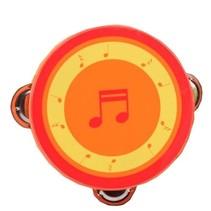 houten tamboerijn 13 cm oranje