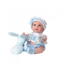 levensechte pop Susu 38 cm blauw