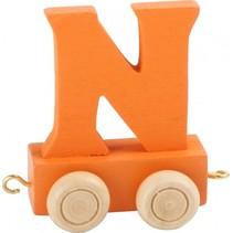 treinletter N oranje 6,5 cm