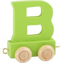 treinletter B groen 6,5 cm