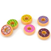 speelset Donuts junior hout 6-delig