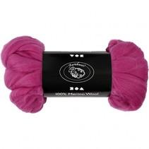 wol Merino 21 micron violet-rood 100 gram per bol