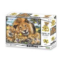 3D-puzzel Selfie Leeuwen karton 63-delig