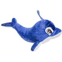 knuffeldolfijn meisjes 31 cm pluche donkerblauw