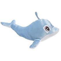 knuffeldolfijn meisjes 31 cm pluche lichtblauw