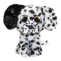 knuffel Lumo Dalmatian Dog Lucky zwart/wit 15 cm