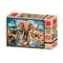 legpuzzel 3D Afrikaanse oase 500 stukjes