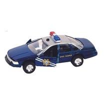 hulpdienst auto: politiewagen 13 cm blauw
