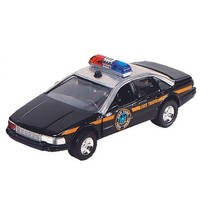hulpdienst auto: politiewagen 13 cm zwart