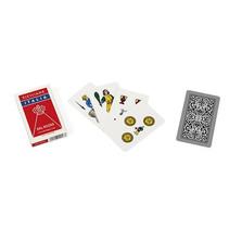 speelkaarten Siciliane 82 mm karton rood 40-delig