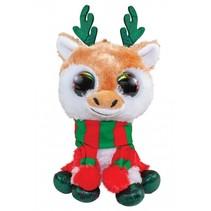 knuffel Lumo Christmas Reindeer Jul 15 cm multicolor