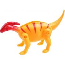 dinosaurus inklapbaar in ei 10 cm geel