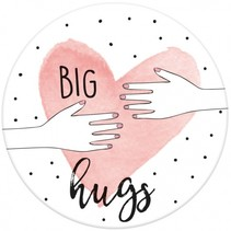 magneet Big Hugs 5,5 cm rond